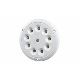 LAMPA OŚWIETLENIA WNĘTRZA OKRĄGŁA LED BIAŁA 12-24V Z PRZEŁĄCZNIKIEM