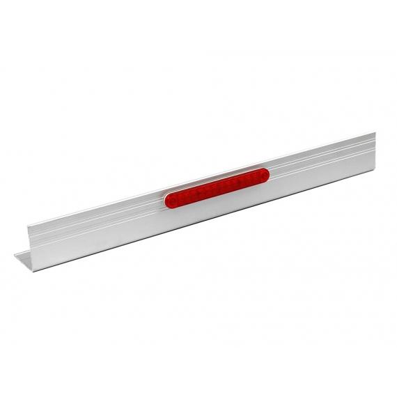 Listwa aluminiowa osłany przeciwrowerowej kpl. 2m