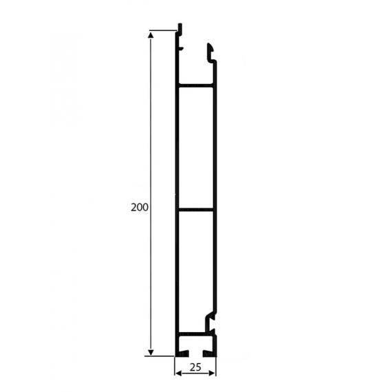 PROFIL BURTOWY DOLNY H-200mm