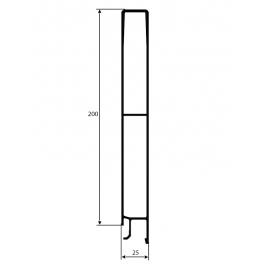 PROFIL BURTOWY GÓRNY H-200mm