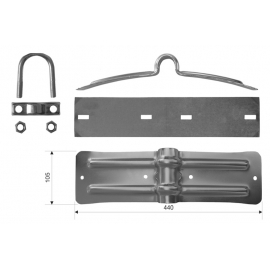 MUDGUARD HOLDER WIDE - KIT