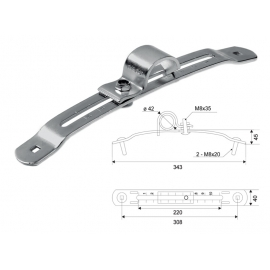 NARROW MUDGUARD HOLDER ADJUSTABLE L-308