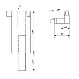 SŁUPEK BURTOWY TYLNY LEWY L-400